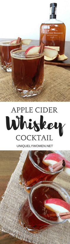 Just like we switch over our mindset to focus on fall foods once fall rolls around, we switch over to fall drinks as well – or so I do anyways! Deeper flavors and stronger spices (generally cinnamon) make their way into the cocktail shaker this season. Today I've created an apple cider whiskey cocktail. Full of strong spices and warm fluids. Apple Cider Whiskey Cocktail.