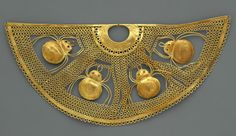 Nose ornament with spiders, 1st century B.C.–1st century A.D.  Peru; Salinar (?)  Gold