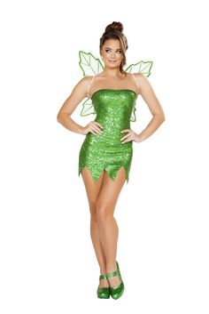 Roma Costume 4732 - 2pc Mischievous Fairy Women's Costume Includes Strapless Mini Dress & Fairy Wings Fabric: Poly Made In USA