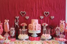 SWEETHEART THEMED 1ST BIRTHDAY DESSERT TABLE | CatchMyParty.com