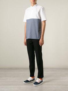 Kris Van Assche Contrast Panel Shirt - Stijl - Farfetch.com
