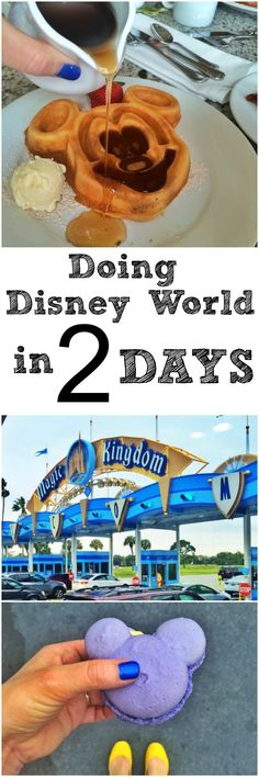 Only have a couple days at Disney World?  Here's what I did and ate in 2 days! #disneyworld #vacation #travel