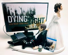 DYING LT Zombies Funny Wedding Cake Topper Bride and Groom PS4/Xbox One by TopShelfToppers on Etsy #Weddings #Decorations #CakeToppers #Funny #COD #Gamer #Cute #Grooms Cake #Topper #Custom #Wedding #Videogame #Xbox #PS4 #Game #Bride andGroom #Custom #Customcaketopper #Unique #Bride #Groom #Cake #Topper #Toppers