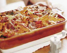 Baked Penne Pasta with Roasted Vegetables Recipe by Giada De Laurentiis www.giadaweekly.com Giada De Laurentiis