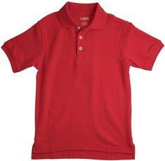 French Toast School Uniform Boys Short Sleeve Pique Polo Shirt Red Medium (8)