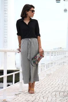 I love Fita Métrica: Stripes Culottes