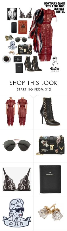 """KARL LAGERFIELD IS MY DAD"" by aneteas ❤ liked on Polyvore featuring Roberto Cavalli, Balmain, Valentino, Edition, Alexander McQueen, FOSSIL, Petals and Peacocks and Liis Japan"