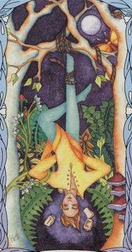 Tarot of a Moon Garden - Hanged Man-If you love Tarot visit me at www.WhiteRabbitTarot.com