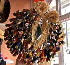 Wreath made out of shotgun shells