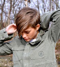 Feminine tomboy look