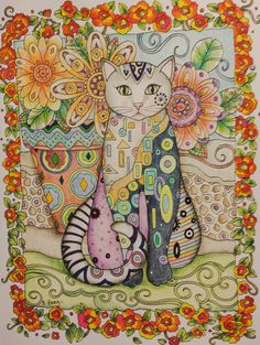 Coloring by Betty Hung - colorart.ca | Creative Cats | Marjorie Sarnat
