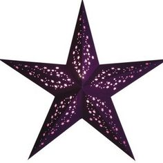 Starlightz Leuchtstern MIA LILA Stern Papier Papierstern Weihnachtsstern Lampe