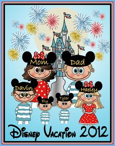 DISNEY VACATION FAMILY Custom Personalized TShirt by togs4sprogs, $24.99