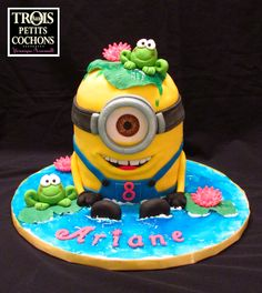 Minion Cake - Minion cake with frog :)
