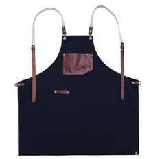Items similar to Wholesale Premium Gift for woman and man Chef Works Handmade Apron Japanese Cross Back - Roco real cow leather Apron Navy on Etsy Leather Apron, Cow Leather, Real Leather, Clothes Words, Restaurant Uniforms, Cow Gifts, Pinafore Apron, Chef Apron, Aprons Vintage