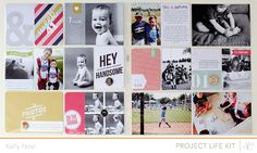 This would be a cool scrapbook layout