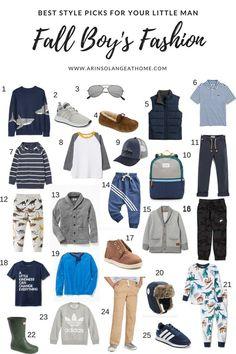 Boy's Fall Fashion – Kids Fashion Boys Fall Fashion, Toddler Boy Fashion, Little Boy Fashion, Toddler Boy Outfits, Kids Outfits, Girl Fashion, Autumn Fashion, Toddler Boys, Toddler Chores