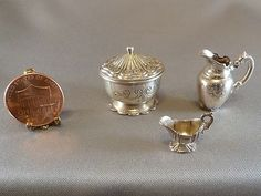 1:12 Scale Sterling Silver LOT Cini Dollhouse Miniatures