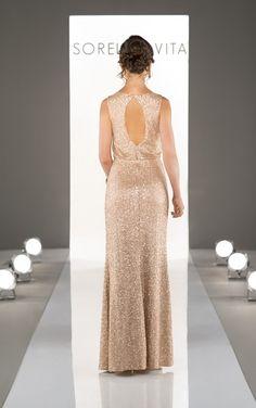 8824 Blouson Bodice Sequin Bridesmaid Dress by Sorella Vita