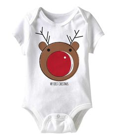 The holidays come but once a year, so indulging little ones in a festive outfit is a special treat, and this snuggly bodysuit is no exception. With a handy lap neck and snaps on bottom, this convenient piece will be at the top on everyone's Nice List. 100% cottonMachine wash; tumble dryImported