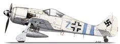 Focke-Wulf Fw 190 A-9; 'Blue 7', Stab II.(Sturm)/JG 300, Löbnitz, Germany, March 1945