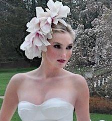 Irina Shabayeva natural flower made the day of your wedding head piece
