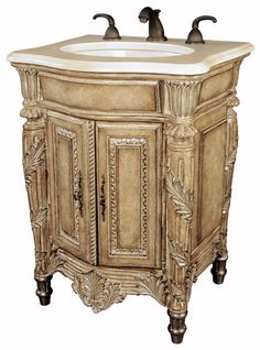 small bathroom vanity | Bathroom Vanities Blog » Antique look with modern luxury (Small ...