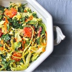 Kale, Cabbage, and Blood Orange Salad