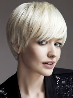 Very Short Haircuts with Bangs - Women Short Hairstyle