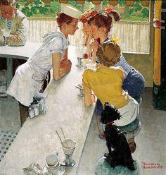 Soda Jerk, Norman Rockwell, 1953