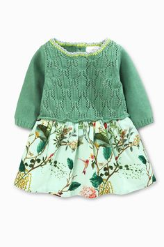 Buy Green Knit Print Dress (0mths-2yrs) online today at Next: United States of America