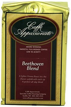 Caffe Appassionato Beethoven Blend Ground Coffee 12Ounce Bag Pack of 3 * Learn more by visiting the image link. (This is an affiliate link)