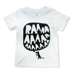 Image of RAAAAA Dinosaur T-shirt Black on White Source by luciadejaeger T-Shirts Boys T Shirts, Tee Shirts, Bleach Shirts, Baby Boy Outfits, Kids Outfits, Dinosaur Posters, E Commerce, Kids Prints, Kind Mode
