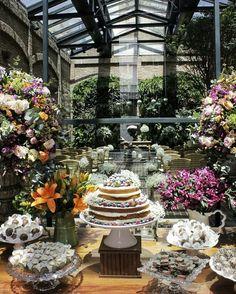 Restaurante Cantaloup   casamento   rústico   mesa de bolo   naked cake