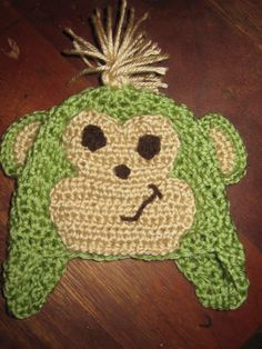 jungle animals crocheted stuff on Pinterest Monkey hat, Crochet ...