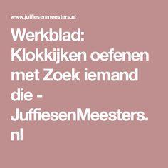 Werkblad: Klokkijken oefenen met Zoek iemand die - JuffiesenMeesters.nl