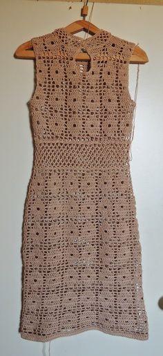 Dazzling Crochet a Bodycon Dress Top Ideas. Head-Turning Crochet a Bodycon Dress Top Ideas. Vintage Crochet Dresses, Black Crochet Dress, Knit Dress, Crochet Shirt, Knit Crochet, Crochet Designs, Crochet Patterns, Crochet Magazine, Crochet Diagram