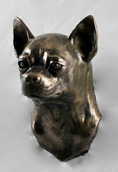 Chihuahua Hanging on The Wall Statue Figurine Limited Art Dog | eBay