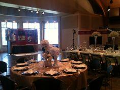 Tablescapes in Temple Conference Center #WeddingVenue #Wedding #LoughridgeWeddings #Centerpiece