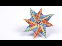 Geldscheine falten STERN Anleitung, Geldgeschenke basteln für Weihnachten - YouTube