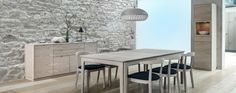 Michigan Dining Table 27 White Oil Drilled Oak – The House – Table Office Table, Bespoke Furniture, Living Room, Kitchen Tables, Dining Tables, Modern, House, Inspiration, Patent Pending