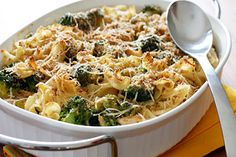 Healthy Cooking,: Chicken and Broccoli Noodle Casserole, skinny recipe.