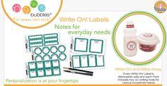 Name Bubbles Waterproof Write On! Labels #Baby #Kids #Kitchen #Organization