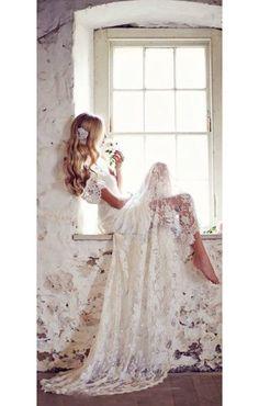 anna campbell robe mariée bohème