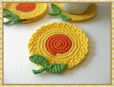 60 Popular Crochet Project Decoration Ideas To Decorate Your Home Crochet Kitchen, Crochet Home, Crochet Crafts, Yarn Crafts, Easy Crochet, Crochet Projects, Knit Crochet, Crochet Potholders, Crochet Motifs