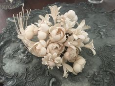 fabric flowers-white flowers