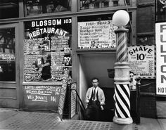 'Blossom Restaurant, 103 Bowery', New York City, October 24, 1935. (By Berenica Abbot).