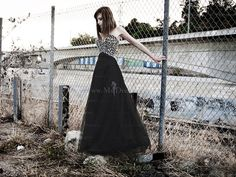 The Model Muse: Punk Princess   Black Prom Dress with Beaded Bodice
