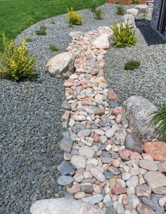 You may decide to implement dry stream beds for drainage, thus preventing erosion by reducing runoff. On the other hand, you may simply like the way it looks! Click this article to learn about creating a dry creek bed in the landscape.