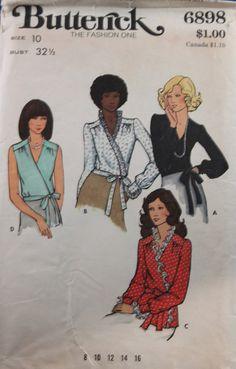 Vintage 1970s Womens Pattern Butterick Cardigan Top